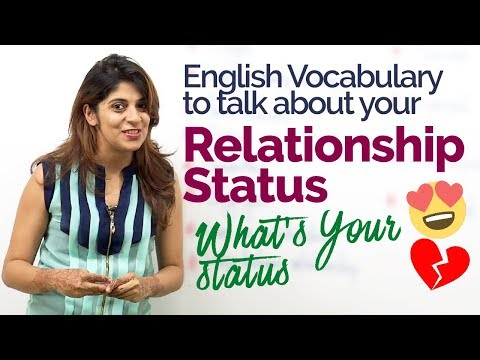 How to talk about Relationship Status? – English Speaking Practice lesson | Build English Vocabulary