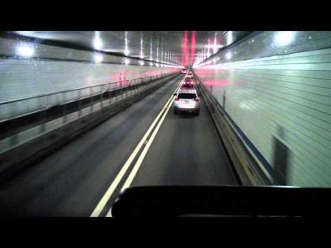 Riding Megabus thru Lincoln Tunnel into NYC