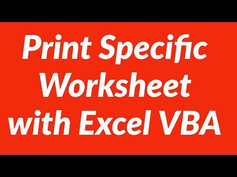 Print specific worksheet from Excel Workbook
