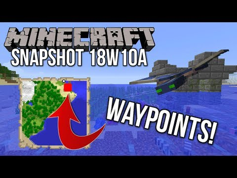Minecraft Snapshot 18w10a | Waypoints, Tropical Fish, NEW Phantom & MORE! (Update Aquatic)