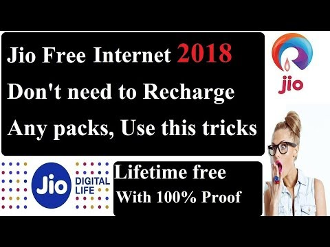 Jio Free Unlimited Internet Trick 2018 For Lifetime Without Any Recharge