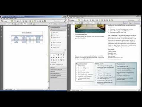 How to Integrate Microsoft Word Tables into Adobe Acrobat