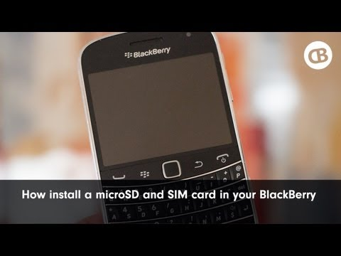 How to Install the MicroSD and SIM Card into a BlackBerry Smartphone