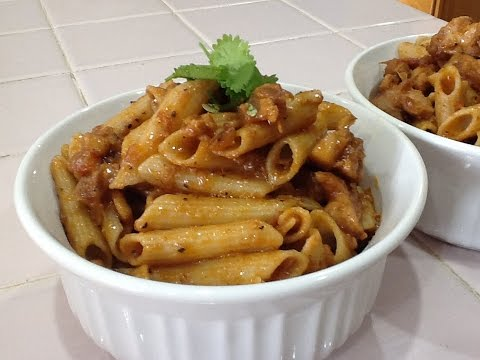 Chicken Pasta-Indian Style spicy Pasta Recipe