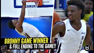 Bronny James HUGE GAME WINNER & CROWD RUSHES THE FLOOR!! The FULL ENDING To The Game!!