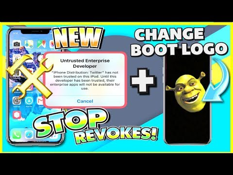 STOP Apps from Revoke/Crashing + Change Boot Logo iOS 11 - 11.1.2 (NO JAILBREAK) iPhone, iPad, iPod
