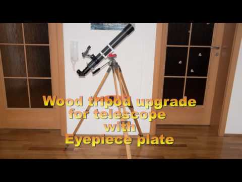 Eyepieces plate for wood tripod