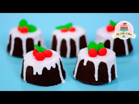 NO OVEN CHRISTMAS CAKE | MY LITTLE CAKES