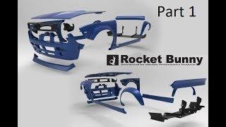 Time Lapse Of Rocket Bunny V2 Boss S14 Body Kit Assembly