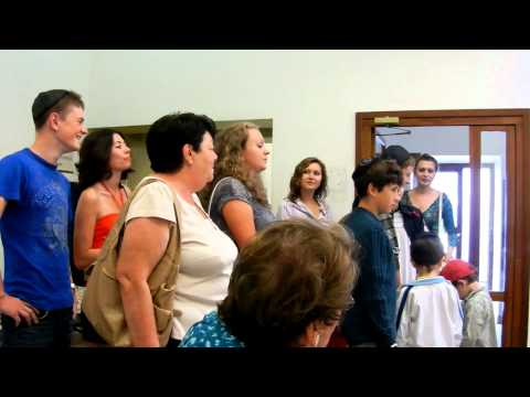 Sunday school parents and children singing in Zhitomir