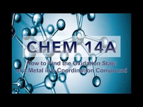 How to Find Oxidation State of a Metal in a Coordination Compound