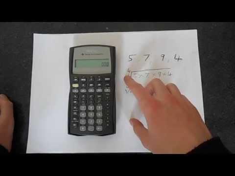 TI BA II Plus Geometric Mean