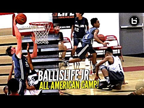 Middle Schoolers BREAKING ANKLES & Getting Buckets! Ballislife Jr All American Camp Mixtape!