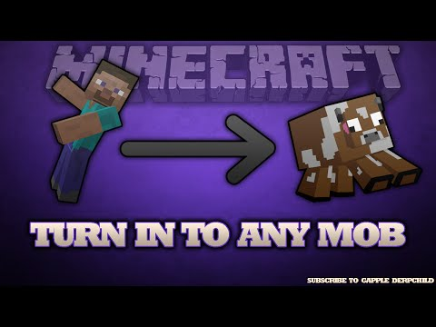 Minecraft 1.11: How to turn into any mob [Without any Mods/Hacks][Updated Tutorial][1 min]