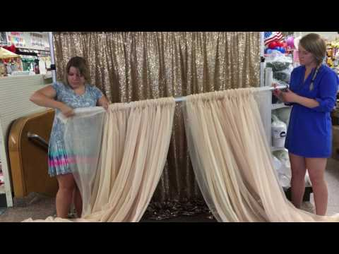 How to Set up a Double Backdrop