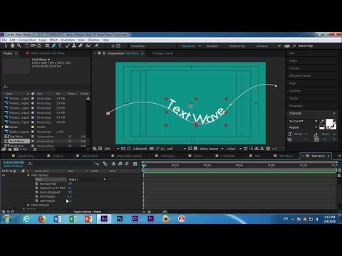 Adobe After Effects CC 2017 Text Wave Tutorial