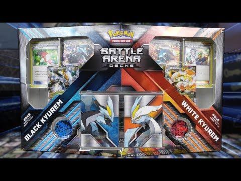 Pokemon Black Kyurem VS White Kyurem Battle Arena Decks Opening!