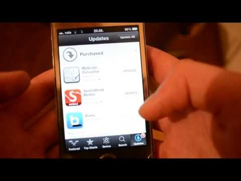 How to update iphone applications (iphone 4/4s/5) may2013