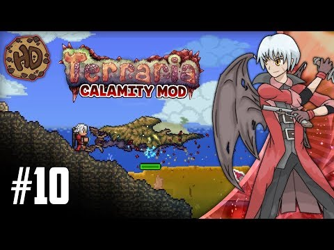 Terraria CALAMITY SUPER-MODDED Let's Play Part 10   ABYSS RAIDING & QUEEN BEE!   1.3.5 Death Mode