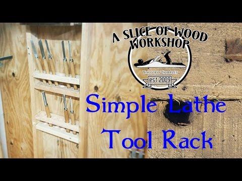 Make a Simple Lathe Tool Rack