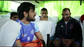 A day in the life of the Indian Kabaddi Team:  En Route