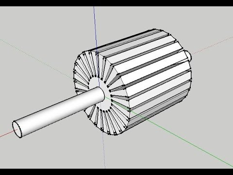 ELECTRIC MOTOR  ROTOR DRAWING WITH GOOGLE SKETCHUP