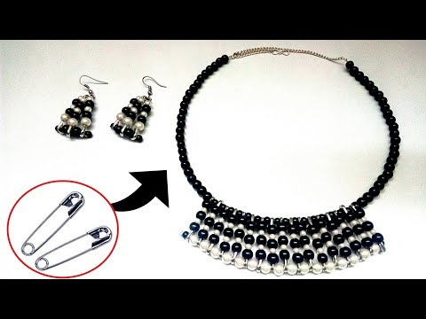 Best Out of Waste Jewellery Idea | Necklace Earring Cool Art | Unique DIY idea with Safety pins