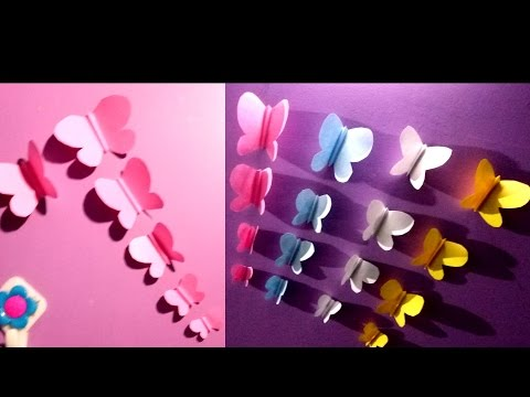 how to make a butterfly   simple paper butterfly   Awesome Paper Butterfly   paper cutting tutorial