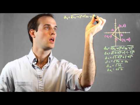 How to Find the Perimeter Using the Distance Formula : Math Calculations