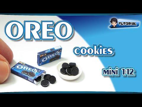 mini OREO Cookies (1:12) - Polymer Clay TUTORIAL (Fimo)