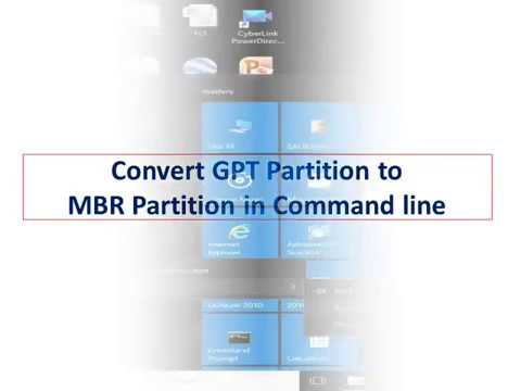 Convert GPT to MBR Partition in DOS