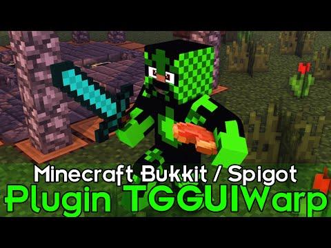Minecraft Plugin Tutorial TGGUIWarp - Warp por comando direto
