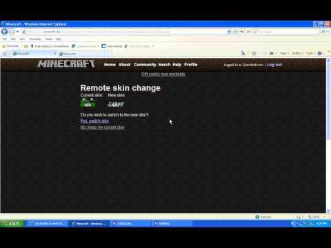 MineCraft Skin Changing easy no download