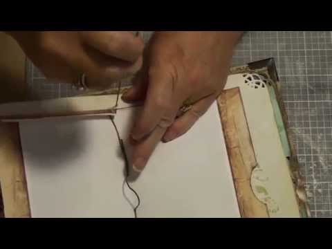 pt2 How to bind a journal using the pamphlet stitch