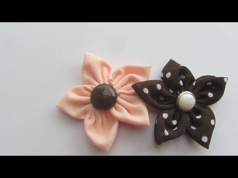 How to Make Fabric Flowers Craft Tutorial