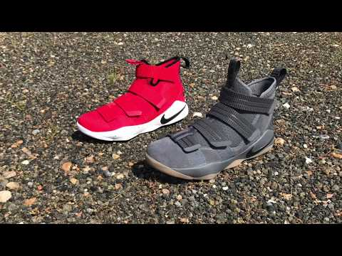 LEBRON SOLDIER 11 ALERT ON FOOT LEBRON SOLDIER 11 DOG DAYS ON FOOT AND DETAILED LOOK