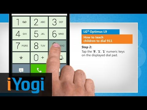 How to teach children to dial 911 in LG® Optimus L9