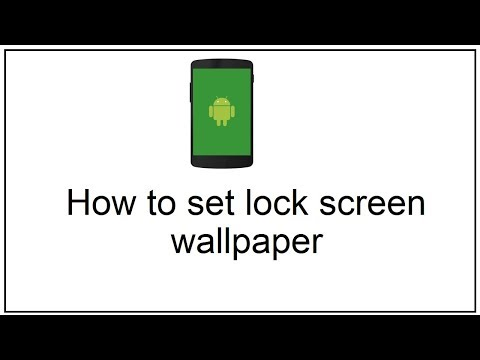 how to set lock screen wallpaper