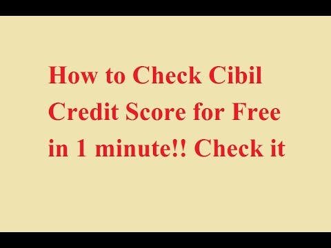 How to Check Cibil Credit Score for Free Online in 1 minute