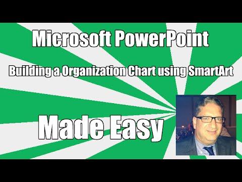 Creating an Organization Chart / Org Chart In PowerPoint using SmartArt tutorial - 2016, 2010, 2013