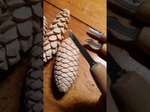 Pine Cone Carving