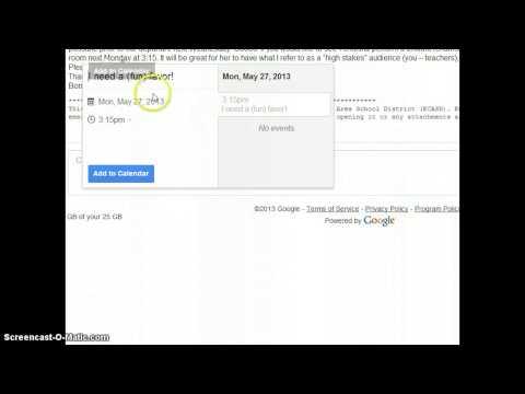 Gmail Add Event to Calendar