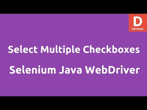 Select Multiple Checkboxes using Selenium Java