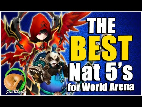 SUMMONERS WAR : The BEST Nat 5's for World Arena (fire/water/wind)