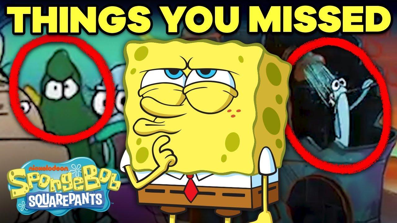 10 Background Details You Never Noticed 👀 SpongeBob