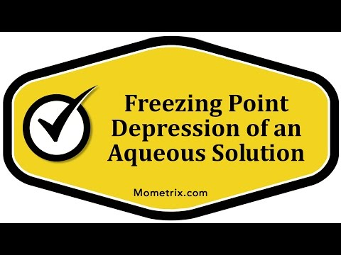 Freezing Point Depression of an Aqueous Solution