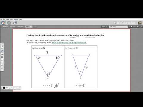 Finding side lengths and angle measures in isosceles and equilateral triangles