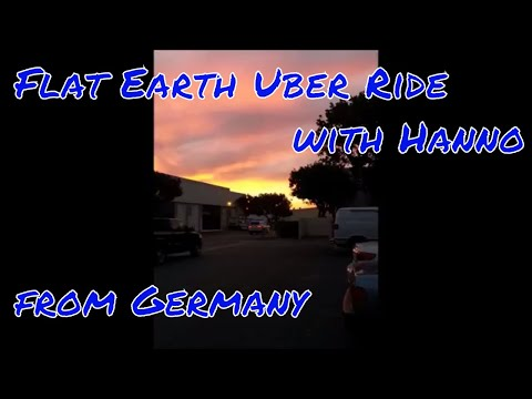 Flat Earth Truth Bomb on Hanno from Germany during his Uber Drive