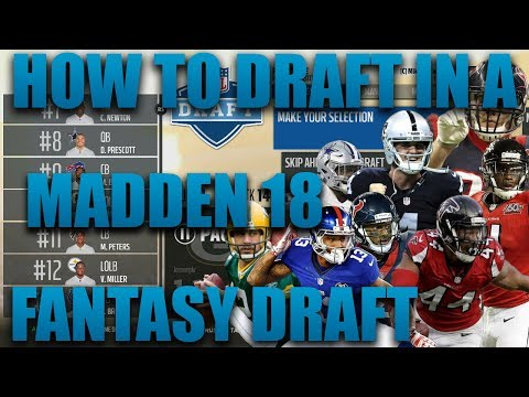 How To Draft In A Fantasy Draft Franchise! Madden 18 Fantasy Draft Franchise Tutorial!