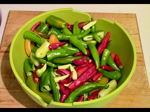 Making Hot Pepper Relish